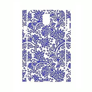Classic Hard Phone Accessories White and Blue Porcelain Pattern Snap on Phone Shell for Samsung Note 3 N9005 Case hjbrhga1544