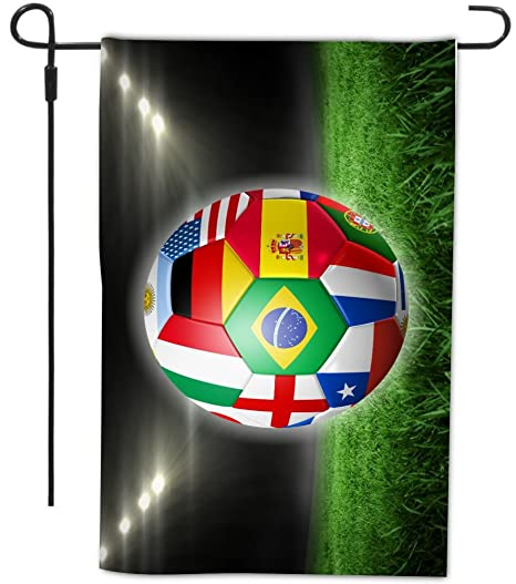 5f8ece53af0 Rikki Knight Russia World Cup 2018 All Team Flags Football Soccer Ball Design  Garden Flag with