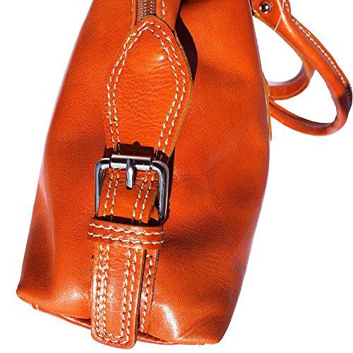 À 6529 Market Double Sac Cognac Florence Main Leather Avec Lanière afSq6A