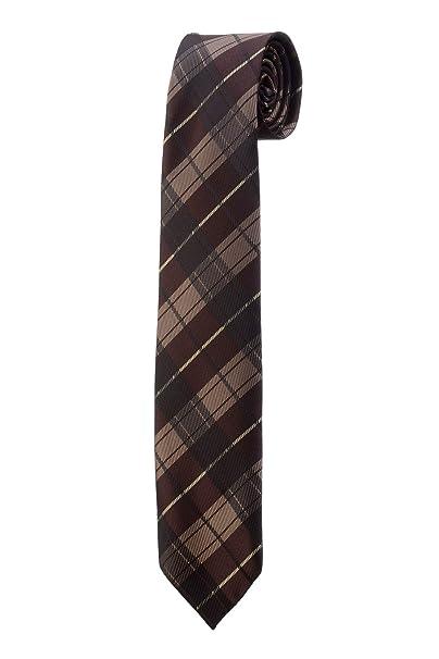 Design RTS - Corbata fina con diseño de cuadros escoceses, color ...