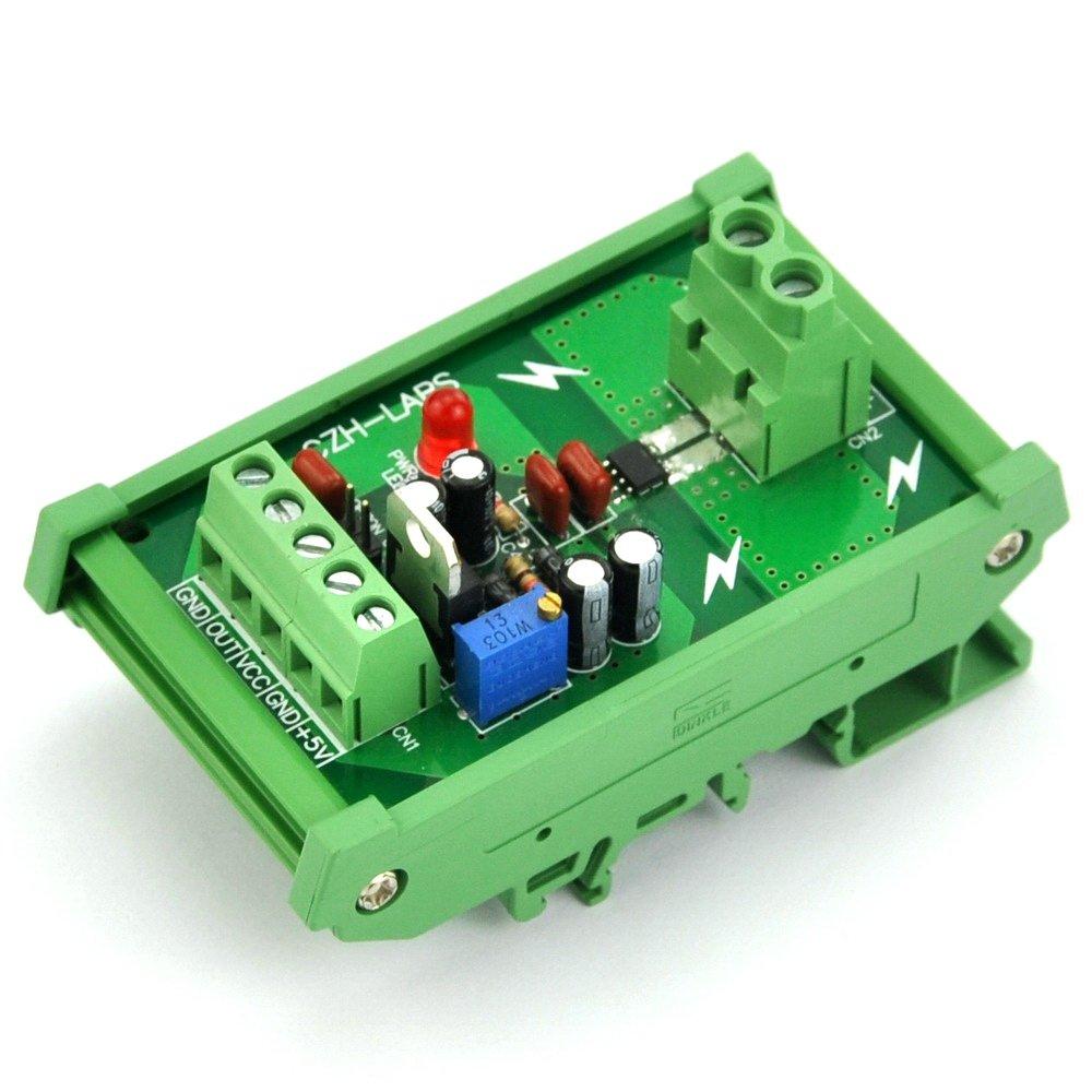 Electronics-Salon DIN Rail Mount +/-5Amp AC/DC Current Sensor Module, based on ACS712 by CZH-LABS
