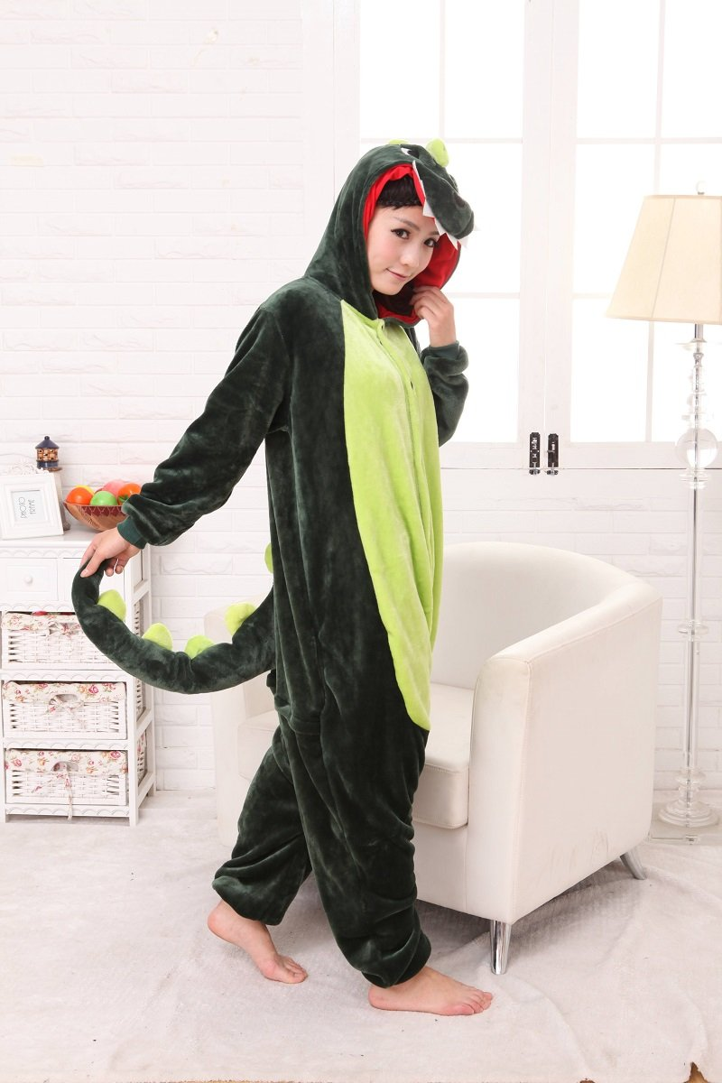 Colorfulworld Pijamas Juguetes y Juegos Animal Ropa Animales Pijama Cosplay Disfraces (XL, Green Dar...