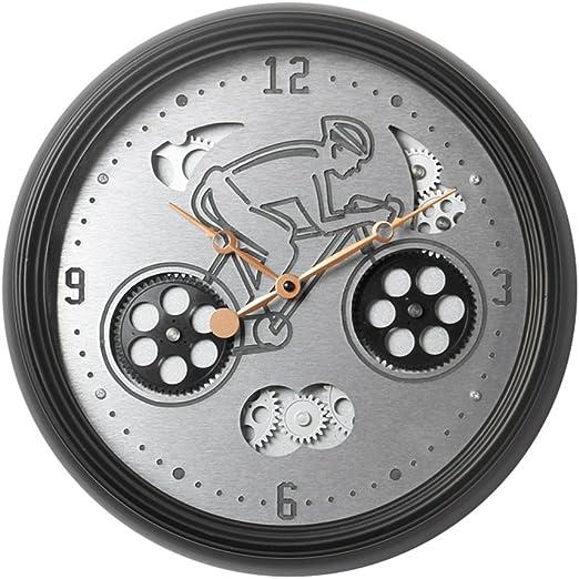 Reloj de Pared Redondo Reloj de Pared silencioso Retro Nostalgia ...