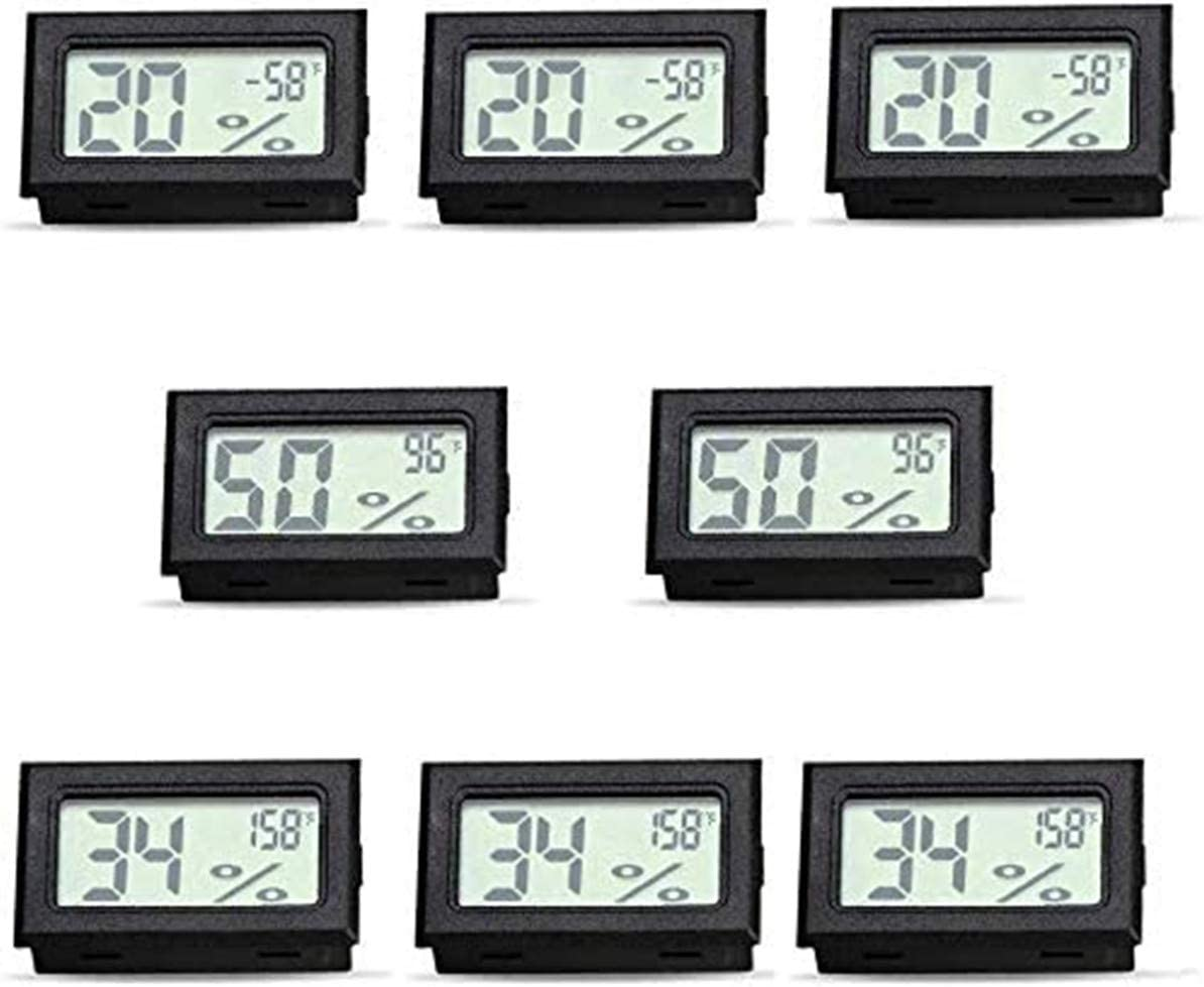 RunSnail Temperature Humidity Meters Mini Indoor Thermometer Hygrometer LCD Display Fahrenheit (℉) for Humidors,Cellar,Cars,Greenhouse,Garden, Baby Rooms