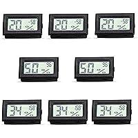 RunSnail Temperature Humidity Meters Mini Indoor Thermometer Hygrometer LCD Display Fahrenheit (℉) for Humidors,Cellar…