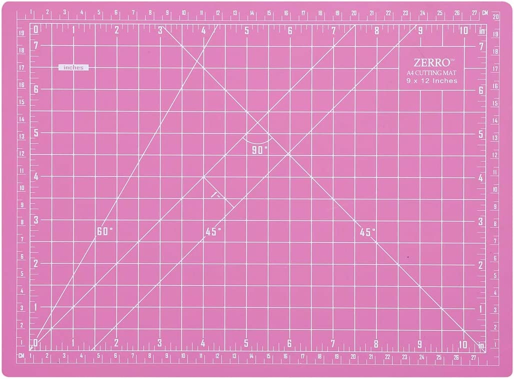 17 Grid for Quilting Sewing/… ZERRO Self Healing Rotary Cutting Mat Double Sided 5-Ply 18 x 18