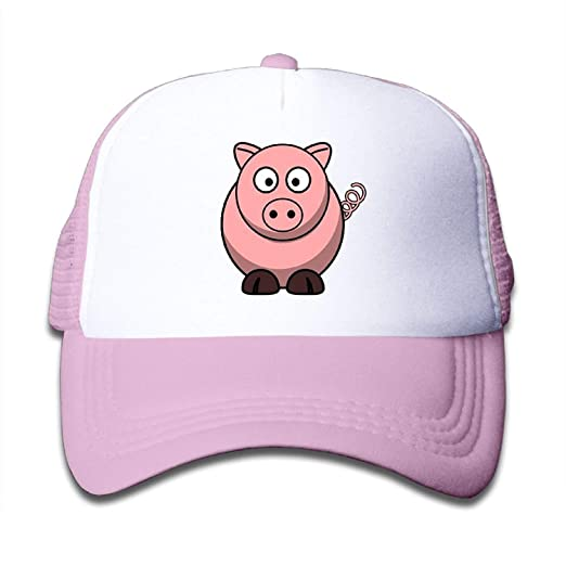 5ae2ce23c89 monogram doormat Kid s Boys Girls Cute Cartoon Pink Pig Youth Mesh ...