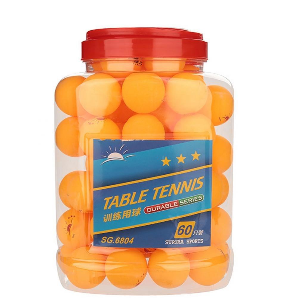 Dilwe Ping Pong Ball, Premium Standard Trainingsbälle Tischtennisbälle Bucket Tischtennis für Anfänger Wettkampf 60 Pcs