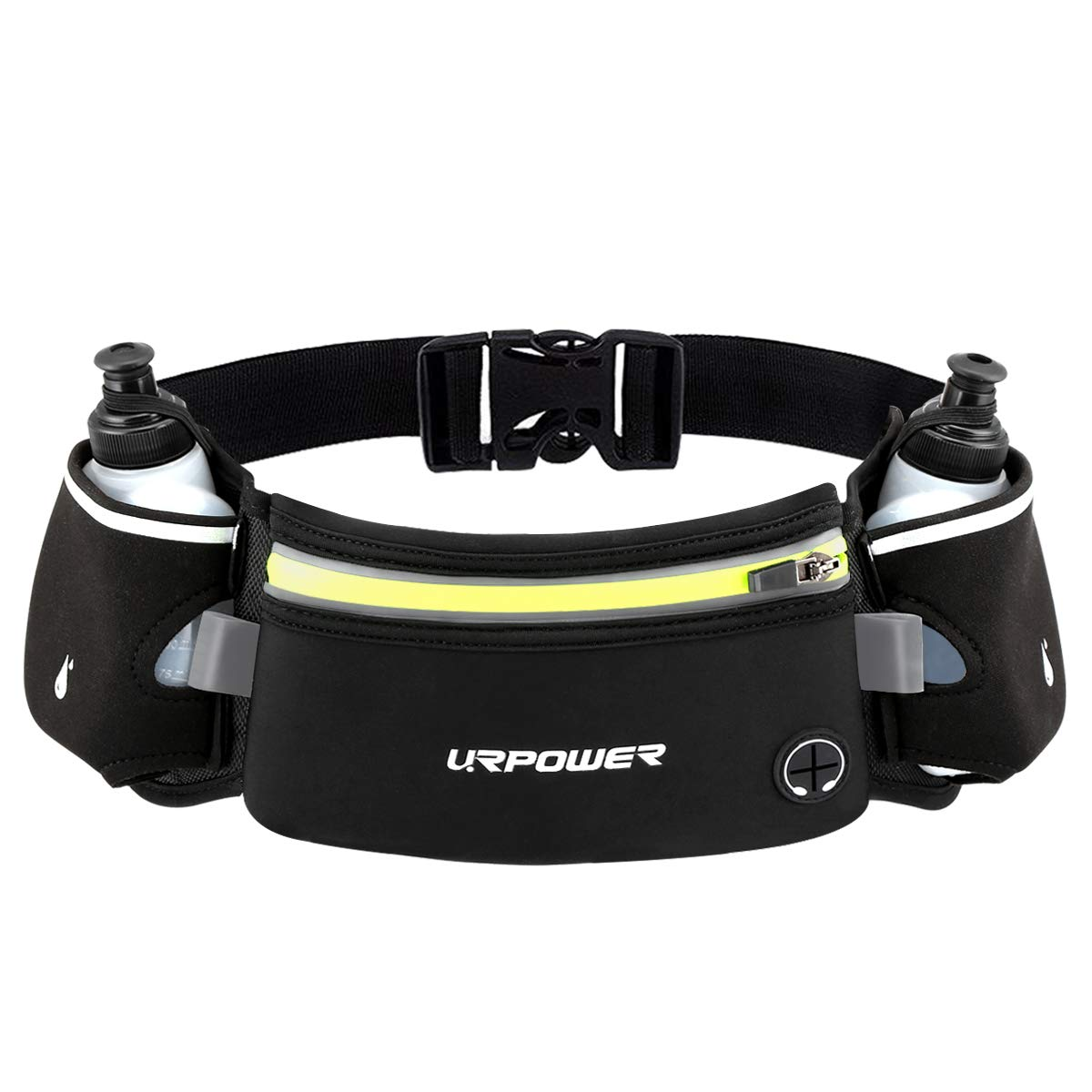 URPOWER Upgraded Running Belt with Water Bottle  Running Fanny Pack with Adjustable Straps  Large Pocket Waist Bag Phone Holder for Running Fits 6 5 inches Smartphones  Running Pouch for Men and Women