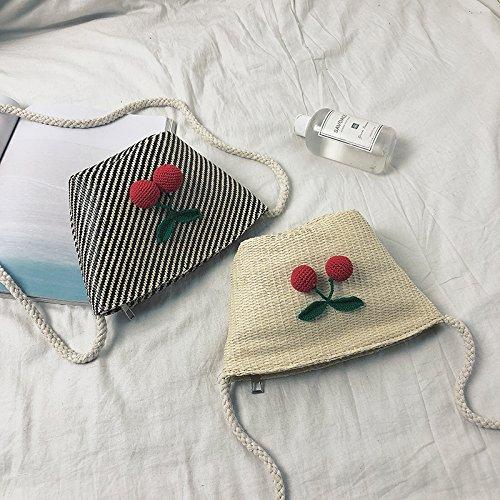 Summer Casual Bags Woven Rattan Sorfier Bucket Handbags Durable Grass Linen Clutch Light Tote Weave Brown Beach Bag Women dyvBwC