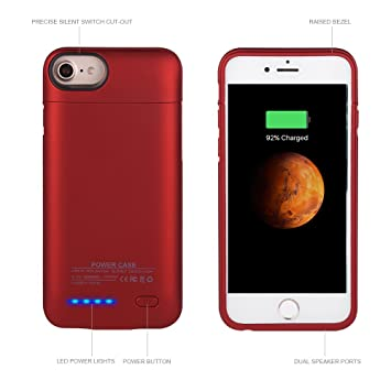 Funda batería iphone6/6S/7 plus,Mbuynow magnético ultra fino 4200mAh batería recargable de carga extendida /Cargador Funda Backup Power Bank [5.5 ...