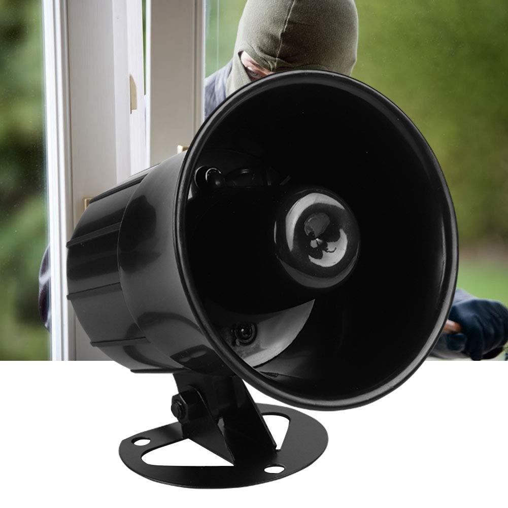 Oumij Alarm Horn ABS Sistema de Alarma antirrobos ign/ífugo Ampliamente Utilizado en alarmas Host para Seguridad en Exteriores 12 V 115bB Altura de instalaci/ón de 2.5 Metros o m/ás Negro