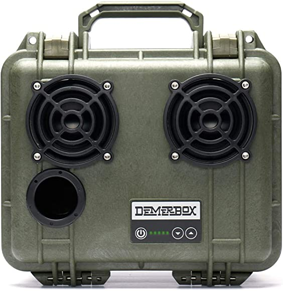 DemerBox Waterproof, Portable, and Rugged Outdoor Bluetooth Speakers. Loud Sound Deep Bass, 40 hr Battery Life, Dry Box USB Charging, Multi-Pairing Party Mode. Built to Last Fully Serviceable