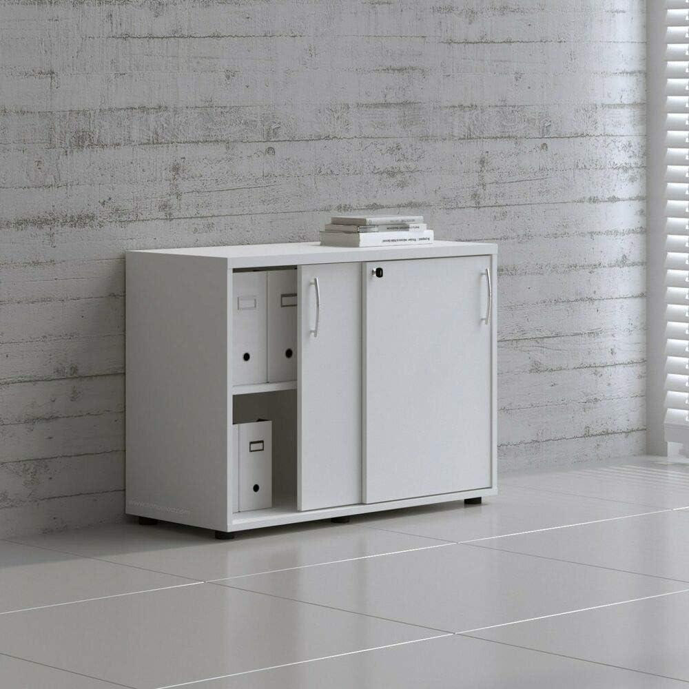 "MDD Office Furniture Standart 40"" Sliding Door Storage Unit"