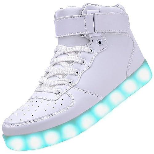 SPEEDEVE LED Zapatos 7 Color de la Zapatillas con Luces USB de Carga ...