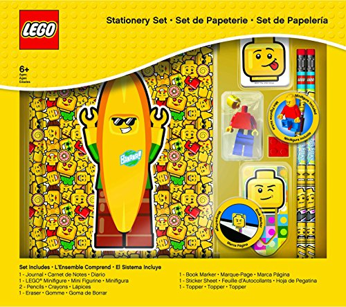 LEGO Classic 8 Piece Journal Stationery Set - Journal, Pencils, Erasers, Minifigure and More by LEGO (Image #5)