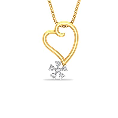 P.N.Gadgil Jewellers 18KT Yellow Gold and Diamond Pendant Women