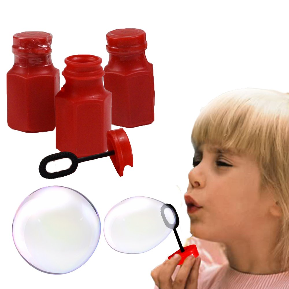 Toy Cubby Red Hexagon Bubbles Mini Bottles - 12 Pcs by Toy Cubby
