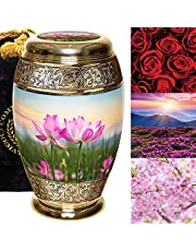 Lotus Tranquility Flower Cremation Urns for Human Ashes Adult for Funeral, Burial, Columbarium or Home, Cremation Urns for Human Ashes Adult, Urns for Ashes