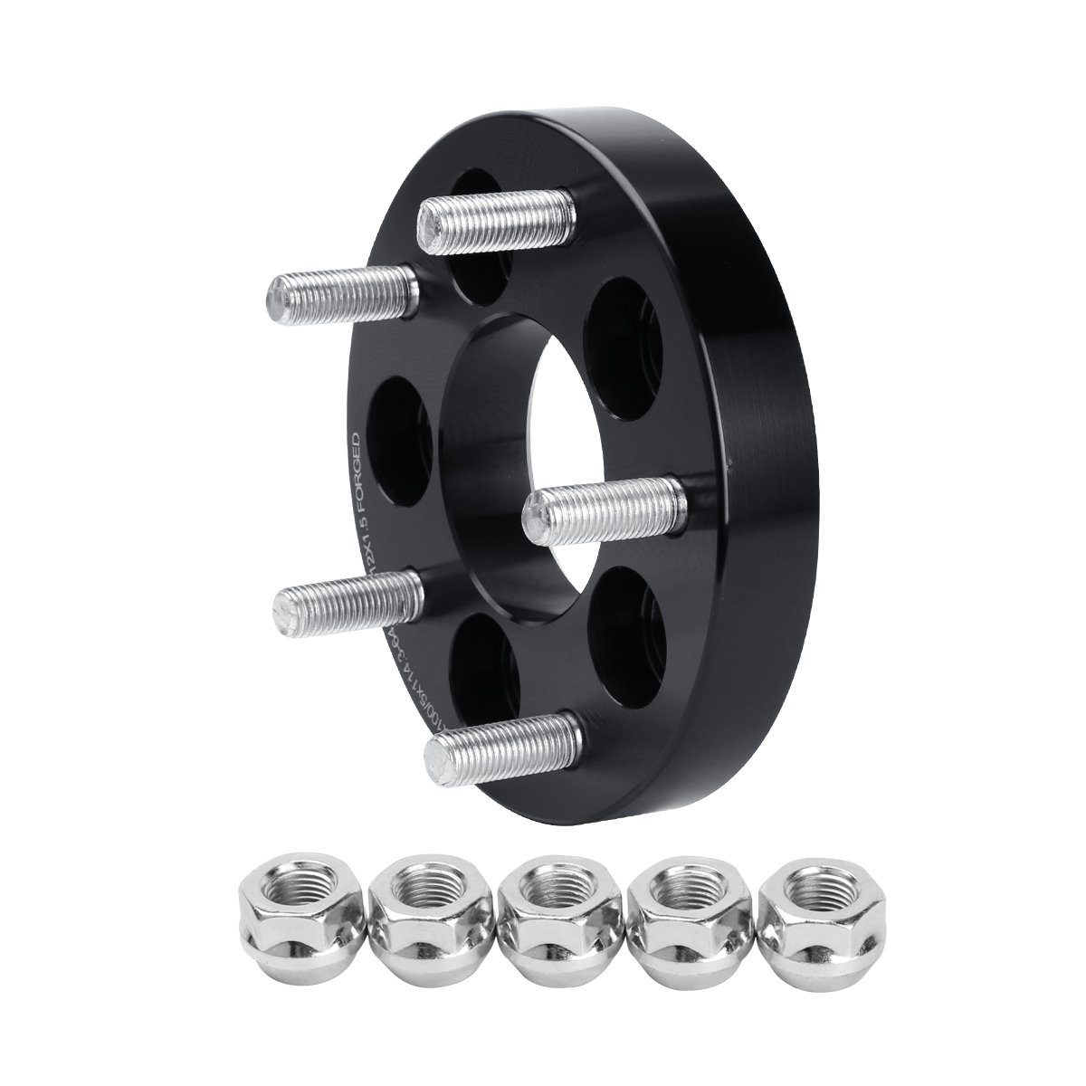 Dynofit 5x100 to 5x114.3 Wheel Adapters for Honda Toyota Wheels on Chrysler Pontiac Bolts Pattern Changed Adapter Dynofit 5x100mm to 5x4.5 1 Forged Conversion Wheel Spacers 12x1.5 Thread Pitch