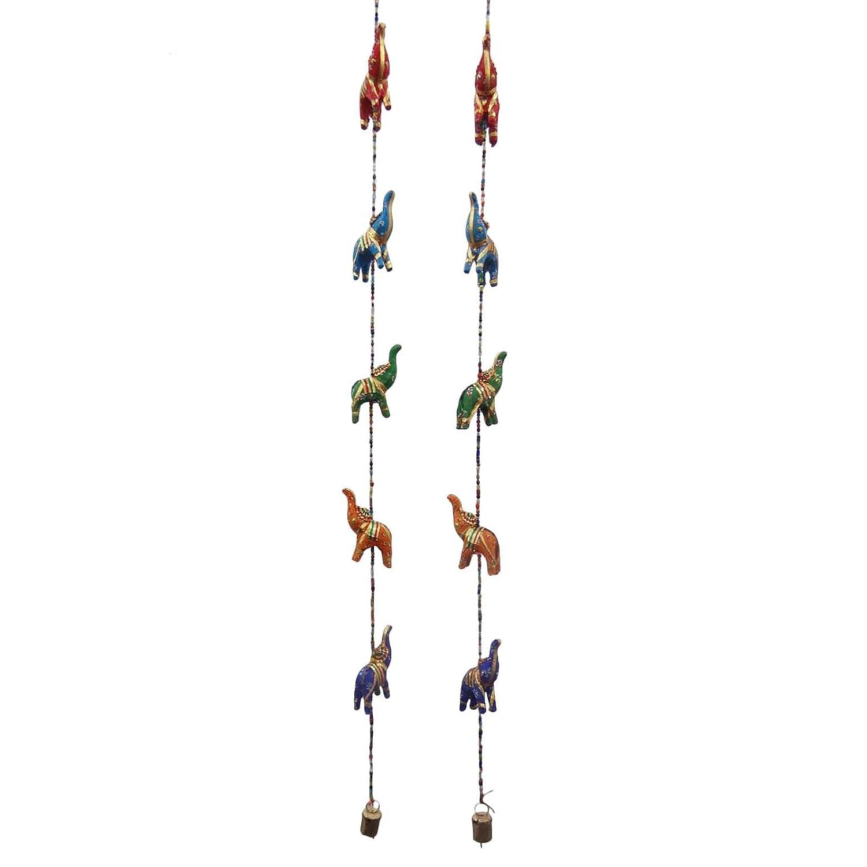 ホーム装飾エスニックRajasthanクラフトハンドメイドキャメルWall Hanging Toran 1ペア  マルチ - 4 B01AFROVXE