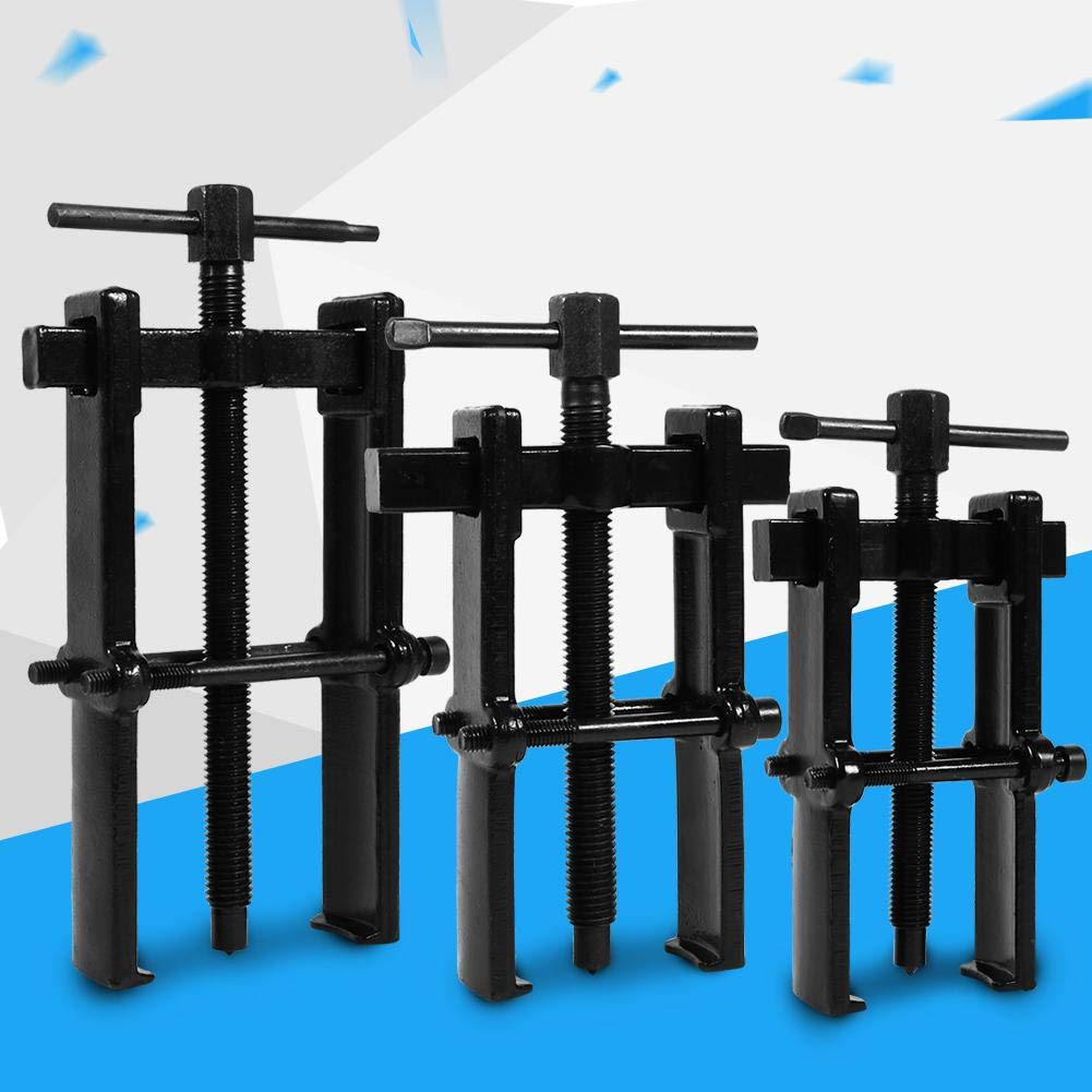 4inch Jaw Gear Pullers 2 Jaw Gear Puller Adjustable Pump Pulley Remover for Motorcycle Car Auto Adjustable Range Carbon Steel Straight Type