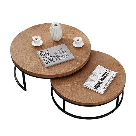 Mesa de Centro Redonda de café, Pata de Metal de Mesa de ...