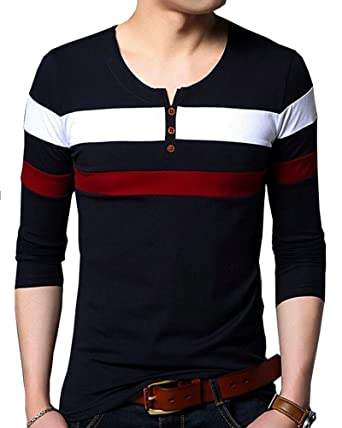 EYEBOGLER Men s Cotton Multiple Striped T-Shirt Black XL  Amazon.in   Clothing   Accessories c51aebe85f