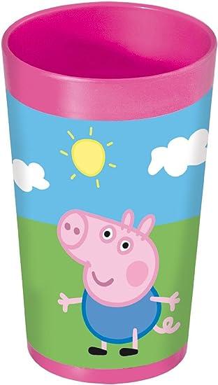 Peppa Pig 748607 - Vaso (7 x 7 x 13 cm), Color Rosa: Amazon.es ...