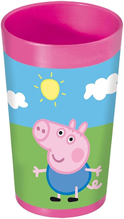 Peppa Pig 748607 - Vaso (7 x 7 x 13 cm), color rosa