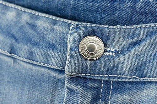 Gamba Baggy WanYang Casuale Jeans Blu Pantaloni Larghi Vita Donne Alta Larga Chiaro Vintage Pantaloni WTxvT8