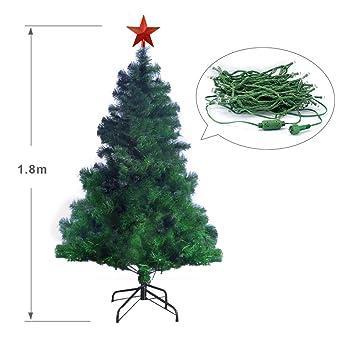 6ft Luxury Green Christmas Tree 250 LED Lights 180cm