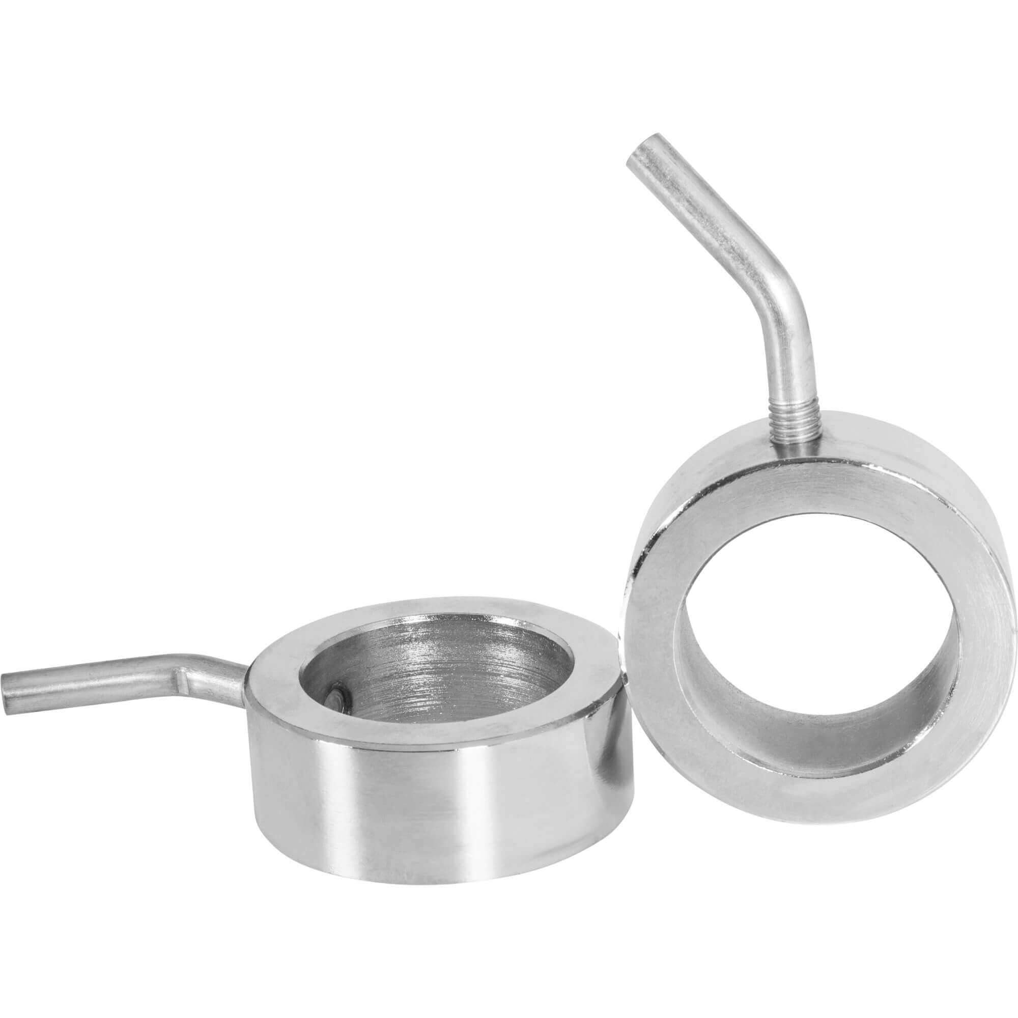 GORILLA SPORTS Olympic barbell collars set chromed - Screw clamps Pair with 2 inch diameter