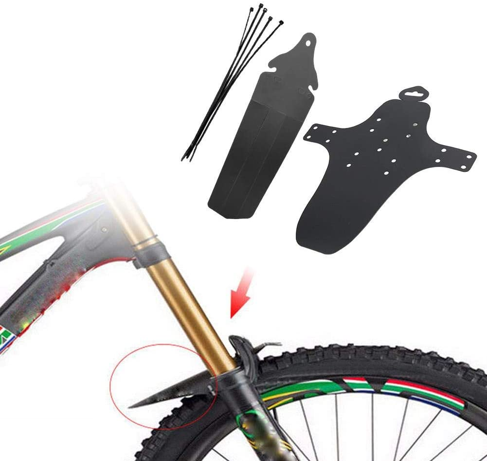 4Pcs Bike Mud Guards Thin Fork Long Type Mud Guards Mudguard Accessory for Mountain Bicycle