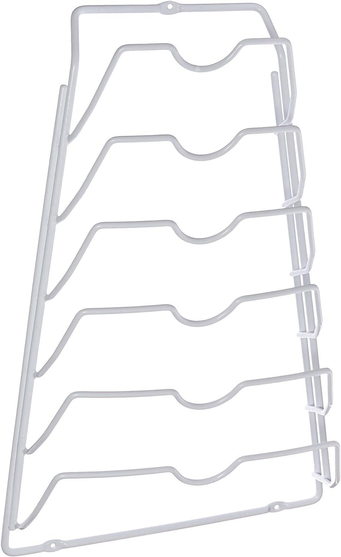 Organize It All 1963W Metal Pot Lid Rack, White, 10.63: Home & Kitchen