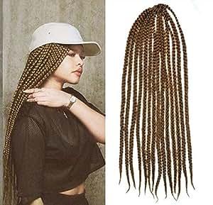 honey blonde color box braids hair extensions