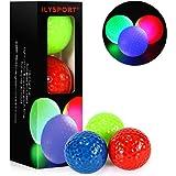 ILYSPORT Glow Golf Balls, Led Light Up Night Golf Balls Glow in The Dark