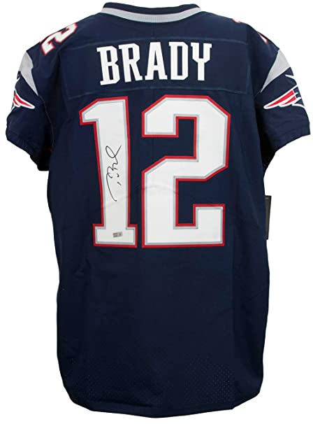 new product 7a9dd 70e48 Tom Brady Signed New England Patriots Blue Nike Elite On ...