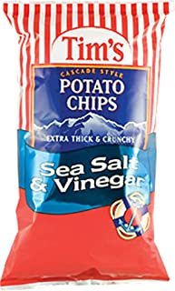 product image for Tim's Cascade Style Potato Chips, Sea Salt & Vinegar, 2 Ounce (Pack of 36)