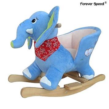 Schaukelpferd Baby Kind Schaukel Spielzeug aus Massivholz Schaukeltier ELEFANT