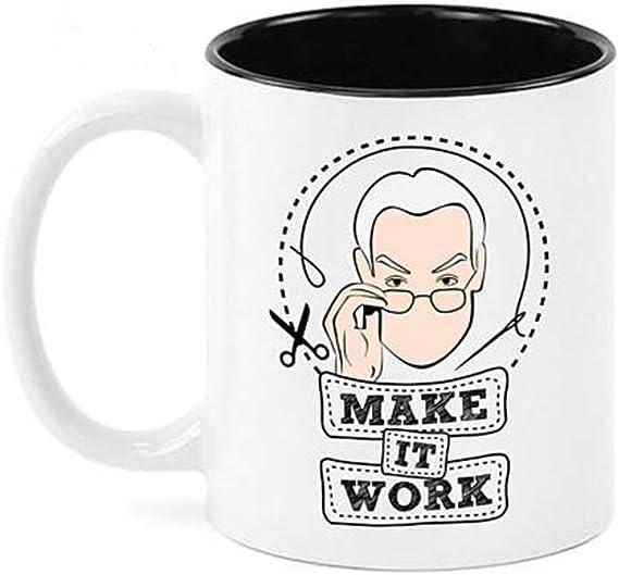 Make It Work Time Gunn Project Runway Inspired Coffee Mug 11oz Ceramic Coffee Mug Tea Cup White Kitchen Dining Amazon Com