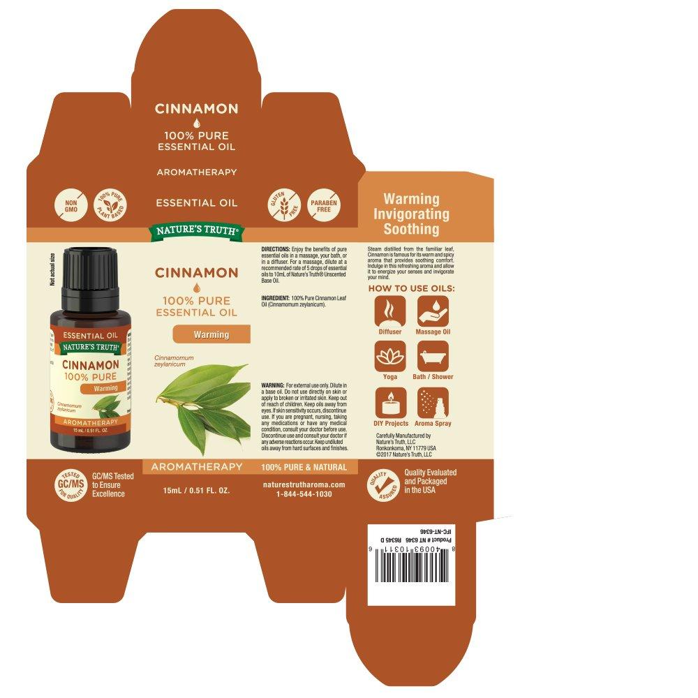 Nature's Truth Essential Oil, Cinnamon, 0 51 Fluid Ounce
