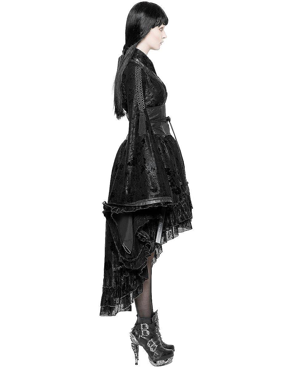 Offen back Kleid Punk Gothic Lolita Mode Kapuze Skelett Stacheldraht Punkrave