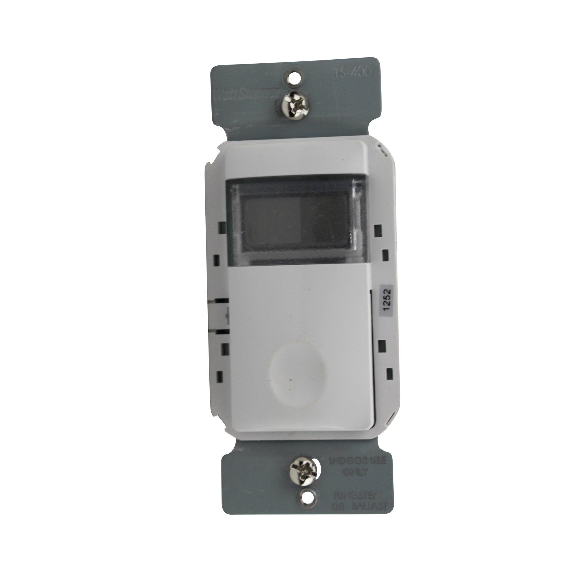 Wattstopper TS-400-W Time Switch Programmable, 800W, LCD, White