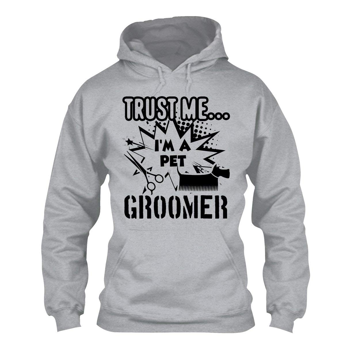 BigTees I'm A Pet Groomer Hoodies, Unisex Hoodie Sweatshirts Grey,3XL by BigTees
