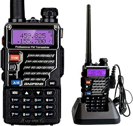 BaoFeng UV-5RE UHF/VHF Radio Bidireccional con Auricular, Doble Banda: Amazon.es: Coche y moto