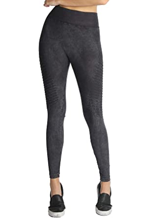 6e2e6bee1ad08d Nikibiki Womens Seamless Vintage New Biker Leggings (Black) at ...