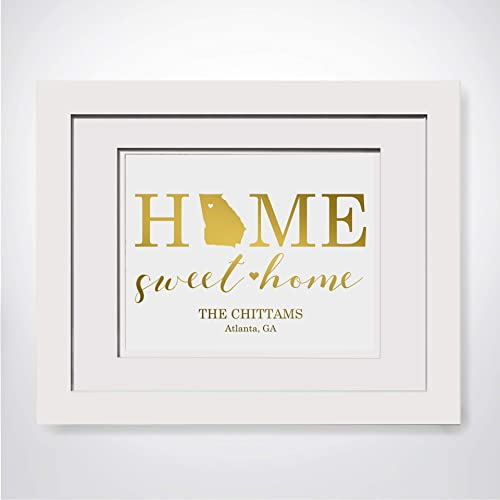 Amazoncom Home Sweet Home Our First Home Gift Custom Last Name