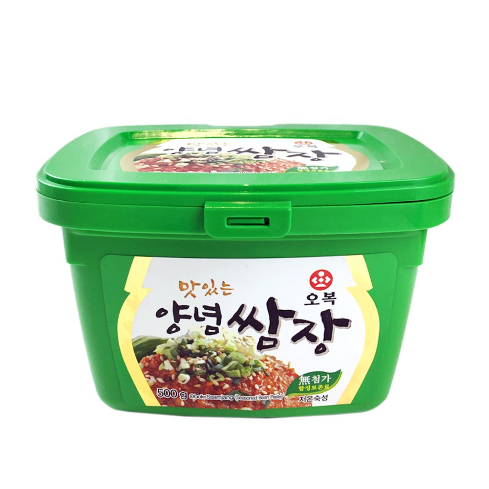 [ 500g ] BBQ Ssamjang Seasoned Soybean Paste with Red pepper Salt Starch Onion 쌈장