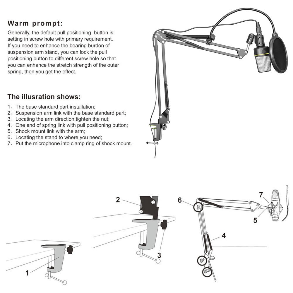 Neewer Microphone Suspension Mounting Windscreen Image 3